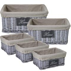 Benzara Stylish & Sturdy 5Pc Willow Utility Basket
