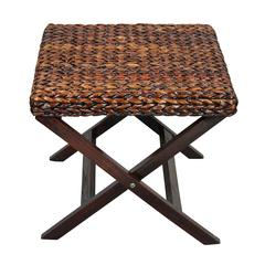 Stylish Basket Weave Designed Wooden Coffee Table