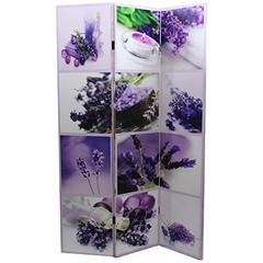 Benzara Exquisite Room Divider In Lavender Color