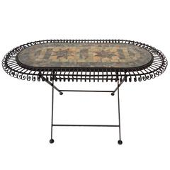 Artistic Mosaic Table In Black Finish