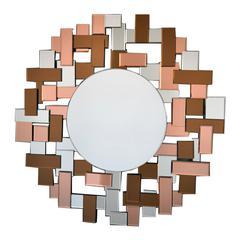 Benzara Funky And Arty Modern Round Mirror