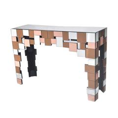 Benzara Super Cool Modern Wood And Glass Table