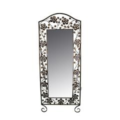 Benzara Gorgeous Metal Mirror With Stand
