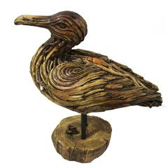 Pretty Duck With Stand Polyresin