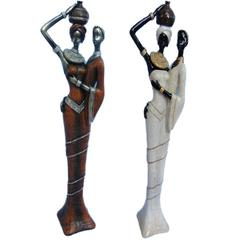 Benzara Set Of 2 Assorted Pleasing To The Eye 19.5 In Polyresin Figurine By Entra