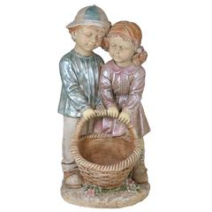 Benzara Fascinating And Cute Statue Boy & Girl