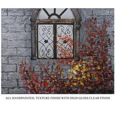 Benzara Enthralling Window Oil Painting