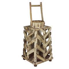 Benzara Perfectly Exquisite Mdf Wooden Lantern