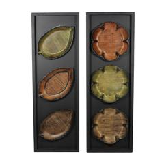 Set Of 2 Assorted Grand And Exquisite Flower Leaf Wall Decor