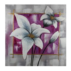 Mesmerizing And Alluring White Floral Themed Oil Painting