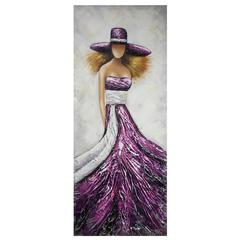 Benzara Pretty And Stunning Lady Oil Painting
