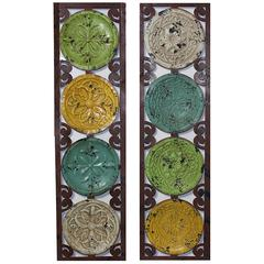 Benzara Classic Set Of 2 Uniquely Designed Metal Wall Decor