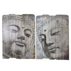 Serene Wooden Wall decor, 2 Assorted - Benzara