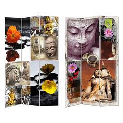 Benzara Divine And Stylish Room Divider - Buddha Images