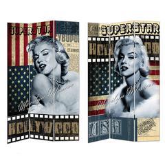 Impressive Room Divider- Marilyn-Flag Theme