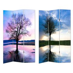 Benzara Artistic And Serene Room Divider -Trees Theme