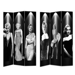 Room Divider-Marilyn-Glam, Black & White Color
