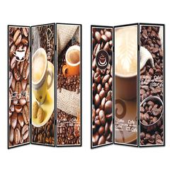 Benzara Outstanding 8Room Divider -Coffee Theme