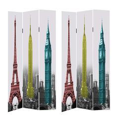 Benzara Remarkable Room Divider -Tower Images