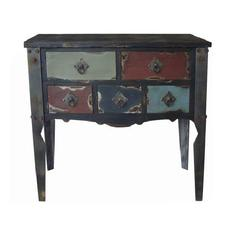 Grand And Vintage Themed Wood Dresser Table