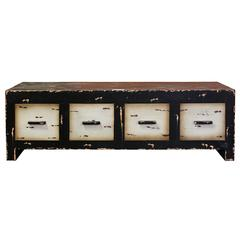 Benzara Striking & Stylish Square Wooden Storage Cabinet