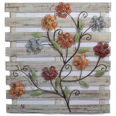 Benzara Striking Wooded Wall Decor