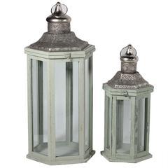 Benzara Authentic And Decorative 2Pc Metal Lantern