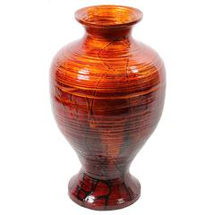 Spectacular Bamboo Vase In Lacquer Finish
