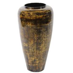 Mesmerizing Bamboo Vase In Lacquer Finish