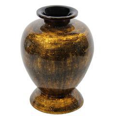 Elegant Copper Lacquer Bamboo Vase