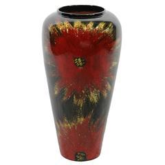 Benzara Floral Themed Lacquer Bamboo Vase