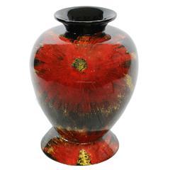 Benzara Vibrantly Designed Lacquer Bamboo Vase