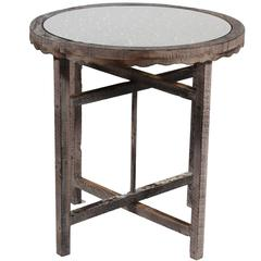 Uniquely Designed Round Wooden Coffee Table