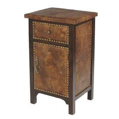 Benzara Elegant And Classy Wood Leather Cabinet
