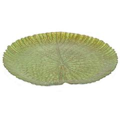 "Benzara 12.75"" Glass Votive Plate, Green"