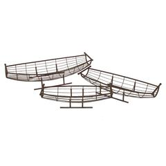 Benzara Stunningly Designed Rusted Set Of Three Metal Fruit Plates