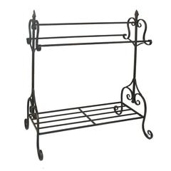Benzara Unique Black Metal Quilt Rack
