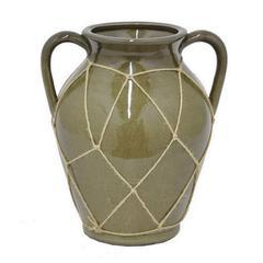 """Benzara 10.5"""" Ceramic Flower Pot"""
