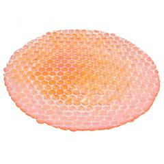 Benzara 42080 Orange Glass Votive Plate, Orange