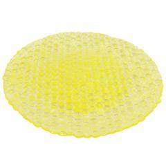 Benzara 42089 Yellow Glass Votive Plate, Yellow
