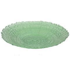 "Benzara 18.25"" Green Glass Plate"
