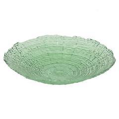 "Benzara 12"" Green Glass Plate, Green"