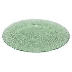 "Benzara 13"" Green Glass Plate, Green"