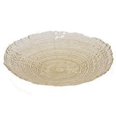 "Benzara 12"" Beige Glass Plate, Beige"
