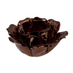 Impressive Plated Ceramic Rose Votive Holder