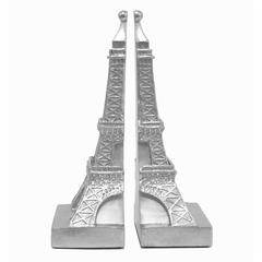 Benzara Unique Silver Resin Small Eiffel Tower Bookend