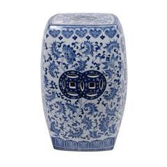 Benzara Elegant Ceramic Garden Stool