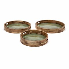 Marble And Wood Decorative Trays - Set Of 3