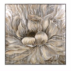 Dhalia Oil Painting With Frame