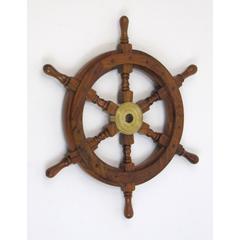 Benzara Bilbao Ship Wheel, Awe-Inspiring Grand Nautical Decor